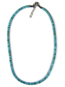 Turquoise Heishi Necklace by Gloria Tenorio (NK4945)