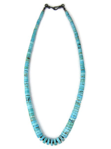 "Turquoise Heishi Necklace 19"" (NK4954)"