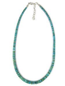 Turquoise Heishi Necklace by Ronald Chavez (NK4956)