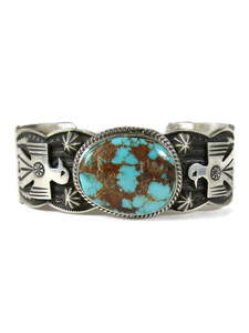Royston Turquoise Thunderbird Cuff Bracelet by Andy Cadman (BR6589)
