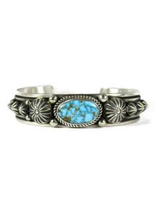 Webbed Kingman Turquoise Bracelet by Albert Jake (BR6593)