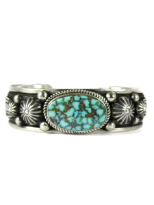 Webbed Kingman Turquoise Bracelet by Albert Jake (BR6594)