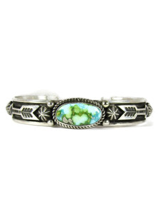 Sonoran Turquoise Bracelet with Arrows by Albert Jake (BR6566)