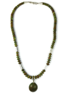 Emerald Valley Turquoise Necklace by Ronald Chavez (NK4963)