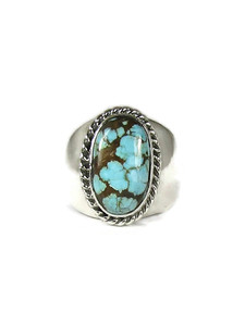 Number 8 Turquoise Ring Size 9 (RG6057)