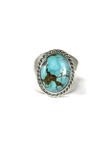 Number 8 Turquoise Ring Size 9 (RG6060)
