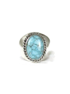 Number 8 Turquoise Ring Size 10 (RG6065)