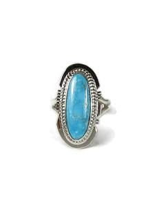 Kingman Turquoise Ring Size 7 1/2 by Larson Lee (RG6070)