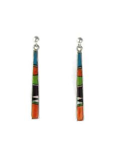 Multi Gemstone Inlay Earrings (ER5974)