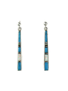 Turquoise, Opal & Jet Inlay Earrings (ER5978)