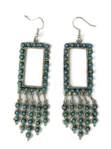 "Turquoise Dangle Earrings 3 5/8"" by Wayne Johnson (ER5984)"