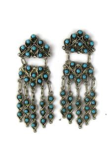 Turquoise Chandelier Dangle Earrings by Wayne Johnson (ER5986)
