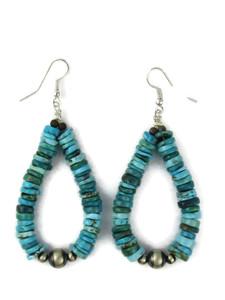 Kingman Turquoise Heishi Bead Earrings by Daniel Coriz (ER5994)