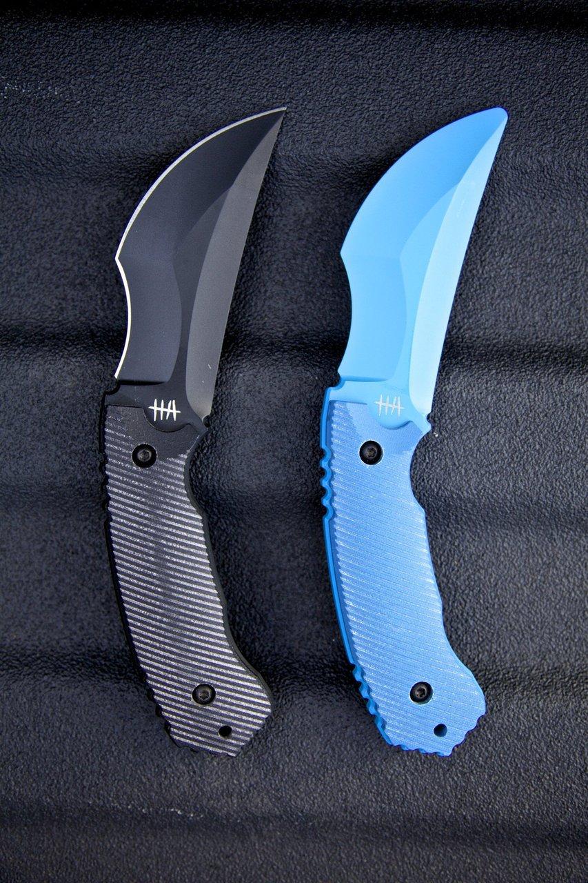 CQC-01 Razorback Kali Fighting Knife & Trainer - Black