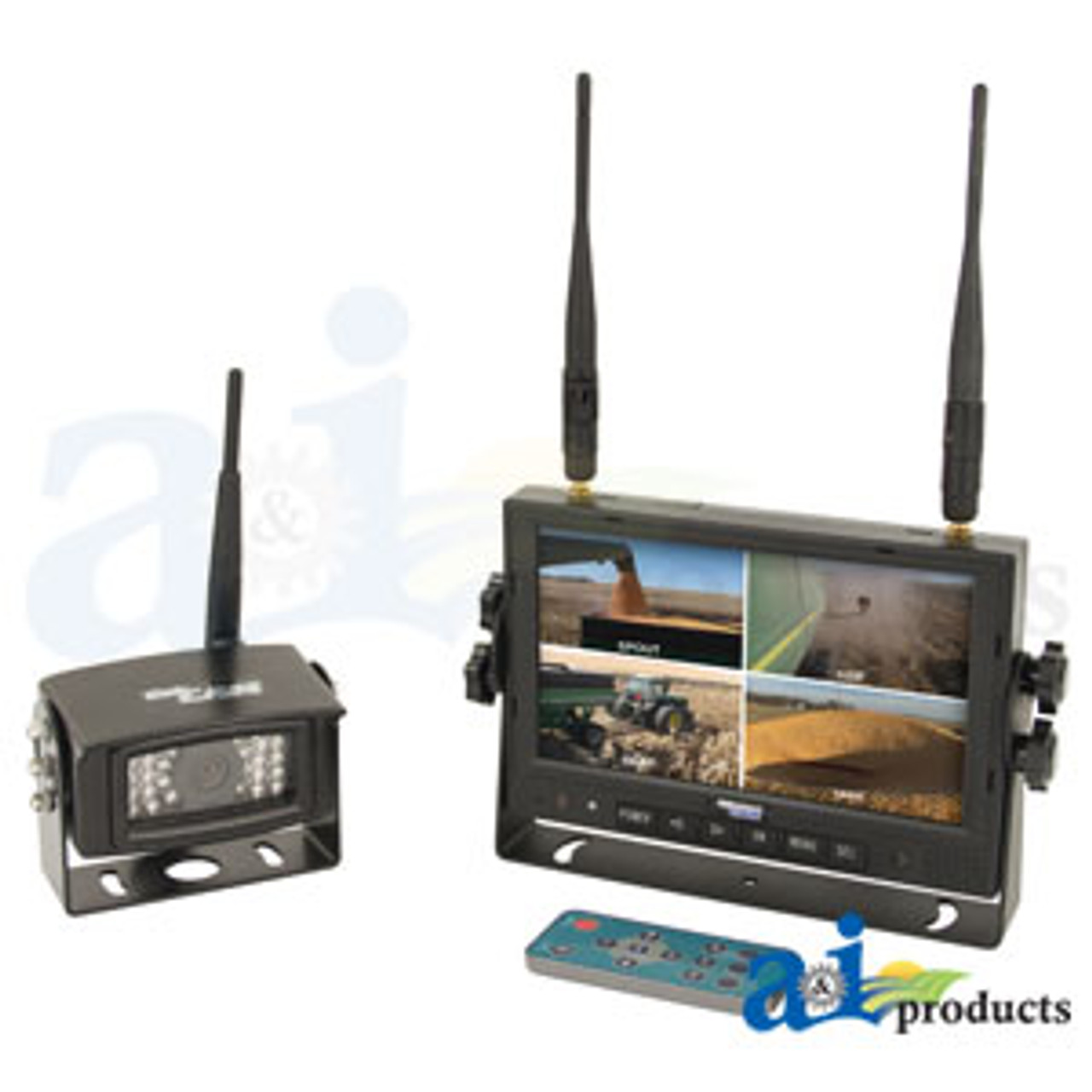 Includes 7 Monitor and 1 Camera CabCAM Video System; Touch Button