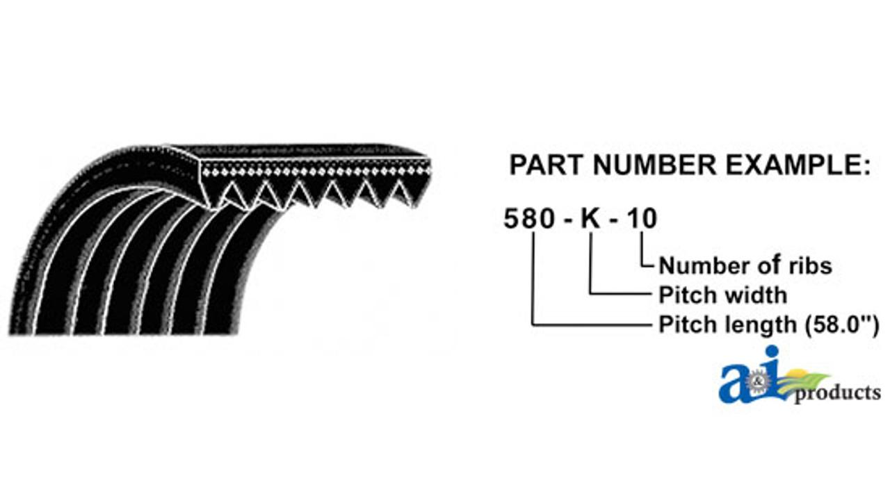 845K6 K-POLY V-BELT