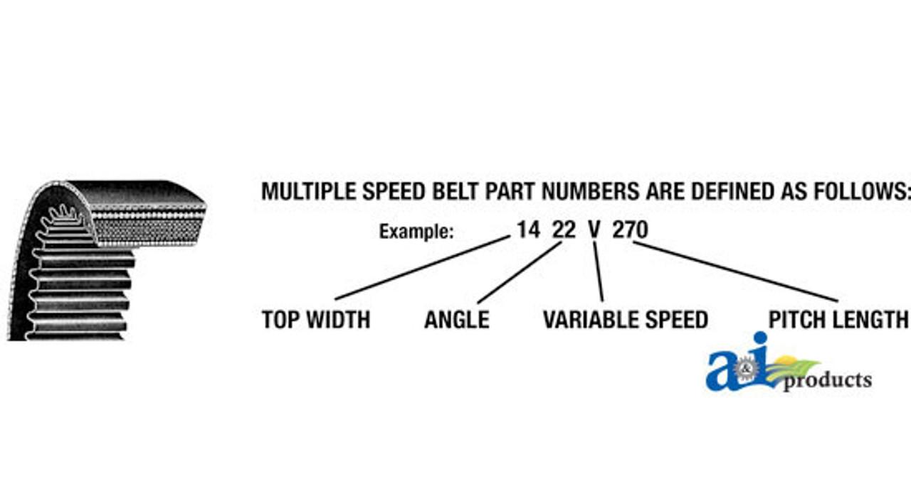 2322V441 VARIABLE SPEED BELT