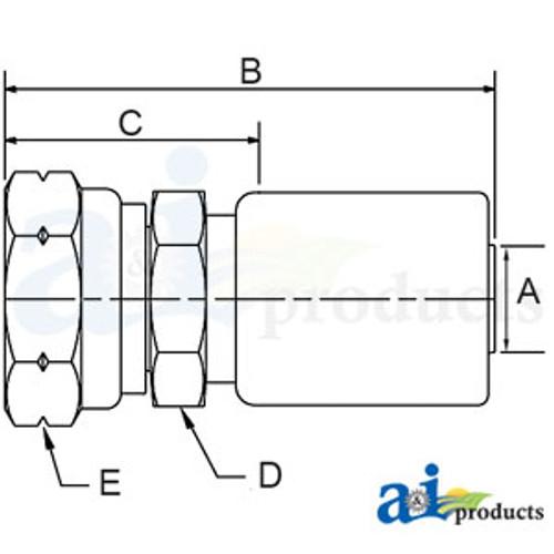 A-M-BSPT-06-06-(HC-M-BSPT) Male BSP Taper Pipe - Rigid