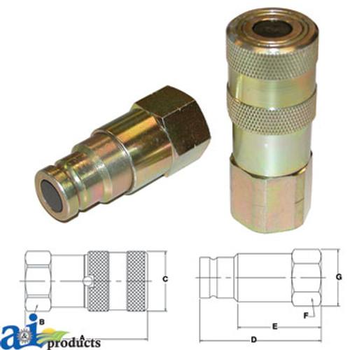 Body 1//2 In The Main Resource HF5818 Auto Type-f Female Plug 1//2 In Npt