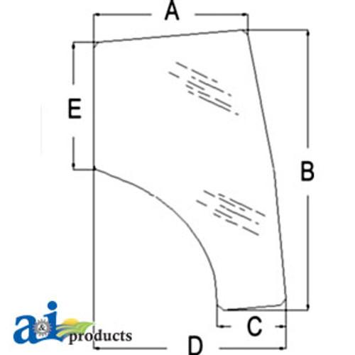A-T1155-70772-Glass, Door (LH) A-T1155-70772
