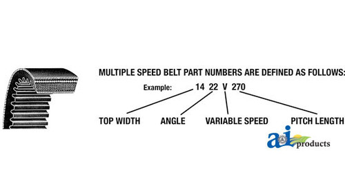 A-3L570 Fractional V-Belt 3//8 X 57 Part No