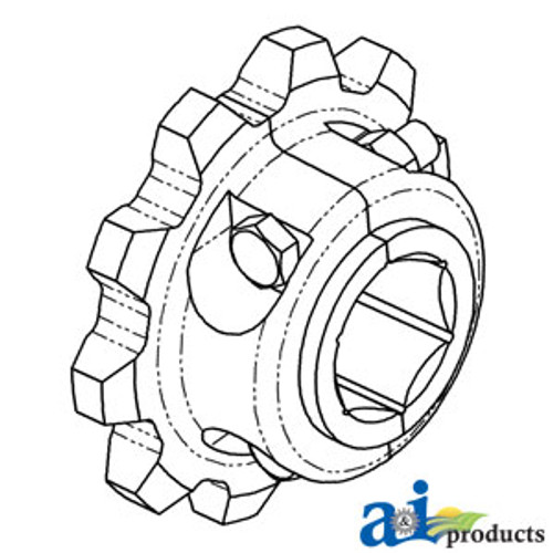 a ae39650 sprocket starter roll drive 20 tooth a ae39650 John Deere 345 Parts Diagram sprocket split feederhouse a h118583 s