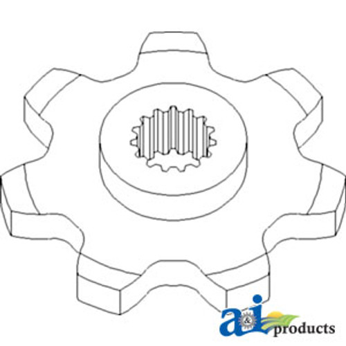 a 121645c1 socket implement lights 7 pin north america a 121645c1  sprocket row unit drive 7 tooth a 86837081