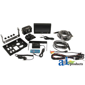 CabCam Rear View Backup Camera Monitor Kit For Tractor Combine Grain Car CC7M1C
