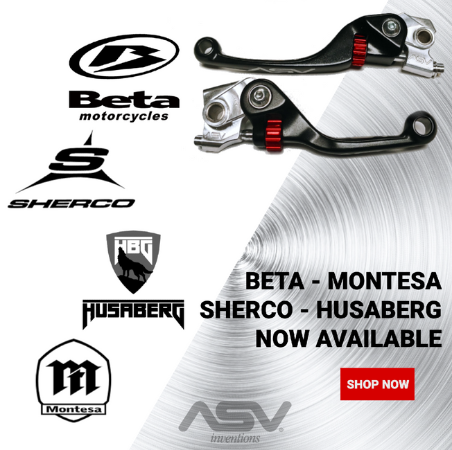 Sherco, Beta, Husaberg, and Montesa get ASV levers
