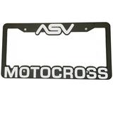 """ASV Motocross"" Auto License Plate Frame"
