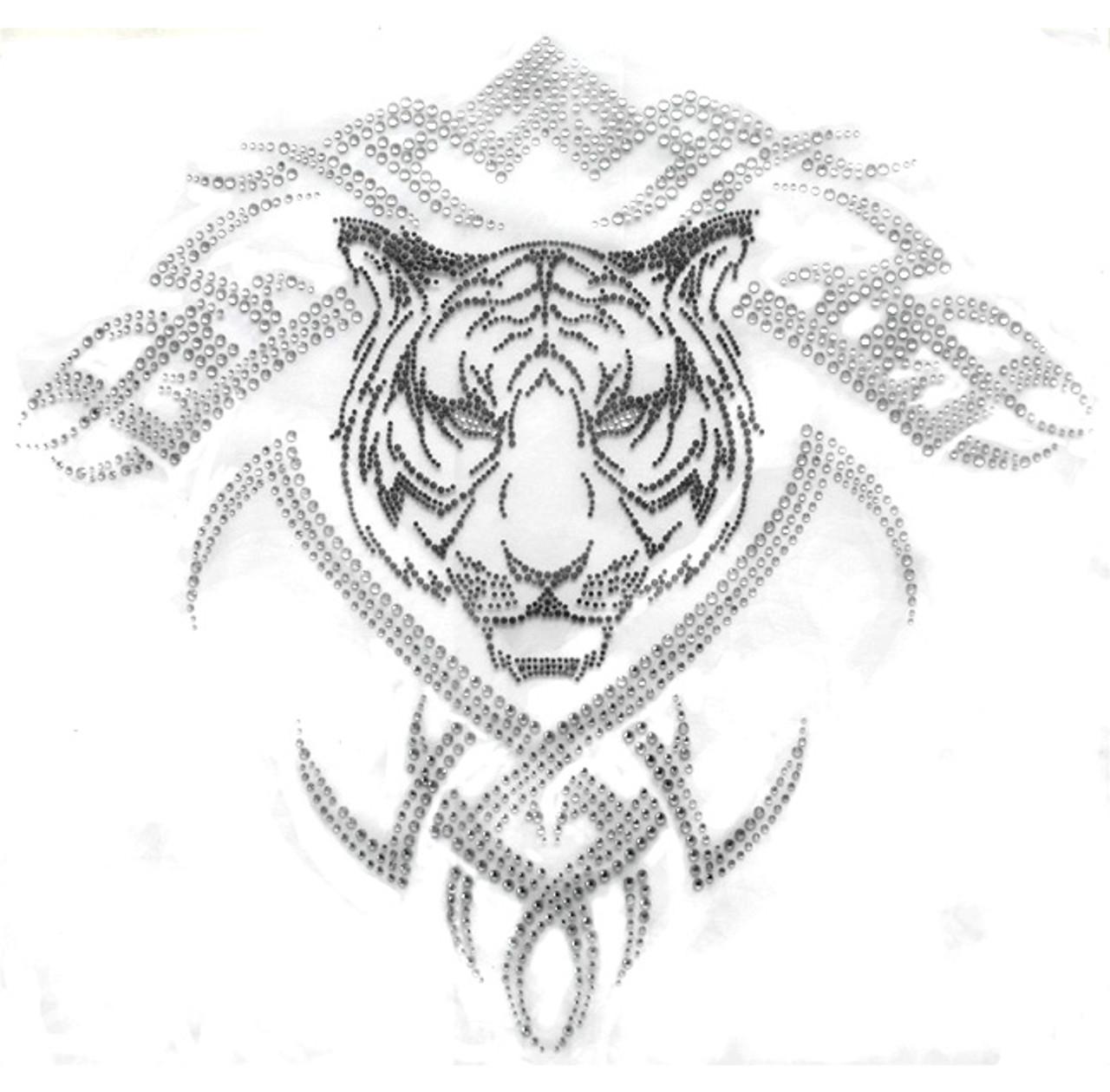Tribal Tattoo Tiger Face Headshot Iron On Design Shop Isaac S Designs