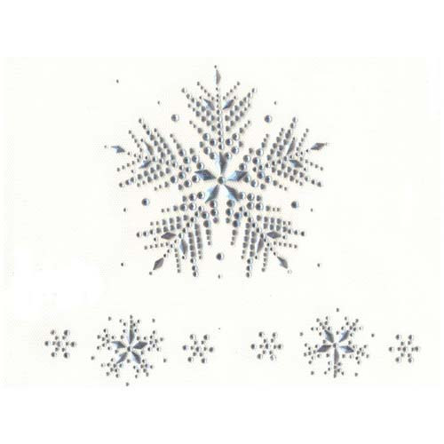 Winter Large Silver Snowflake with  Small Accent Snowflakes