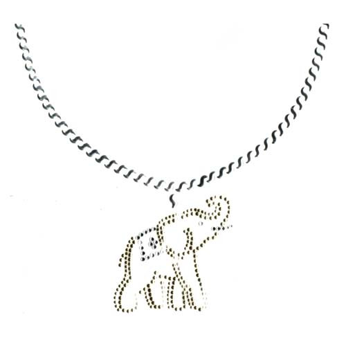 Elephant Charm on Scoop Necklace Design