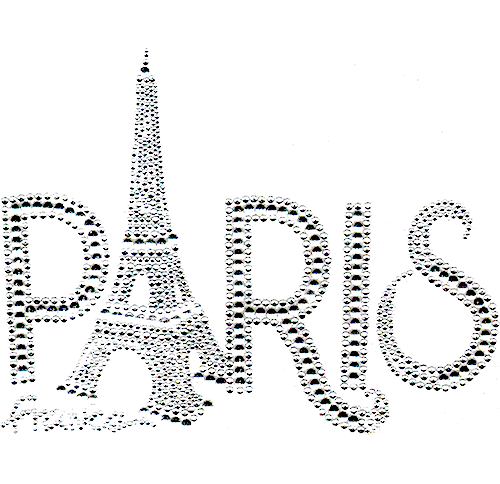 Paris France Eiffel Tower Bold Font Iron On Design