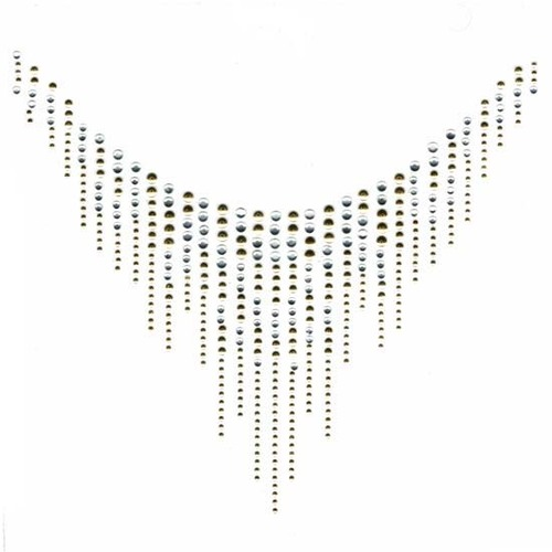 Scoop Neck Neckline Gold Teardrop Iron On Design
