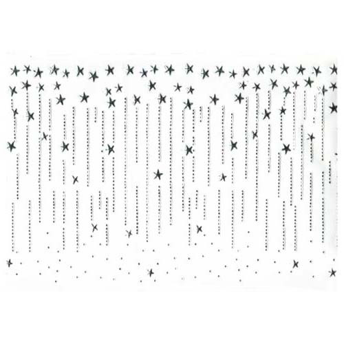 Silver Shooting Stars Trim Iron On Design