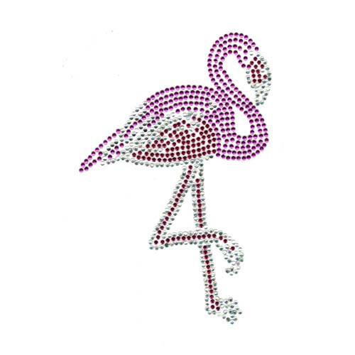 Single Standing Pink Flamingo Tropical Bird Iron On Design