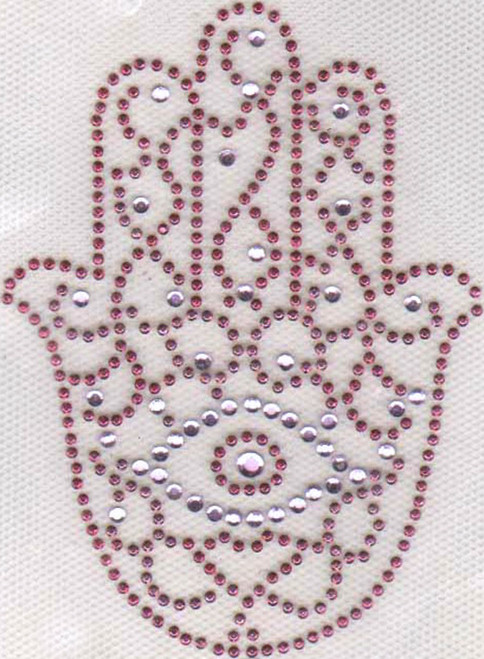 "Pink ""Evil Eye"" Hamsa (Medium)"