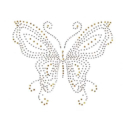 Topaz Gold Single Butterfly Iron On Design