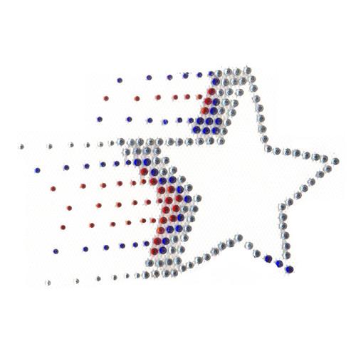 USA American Flag Patriotic Bursting Star Single Iron On Design