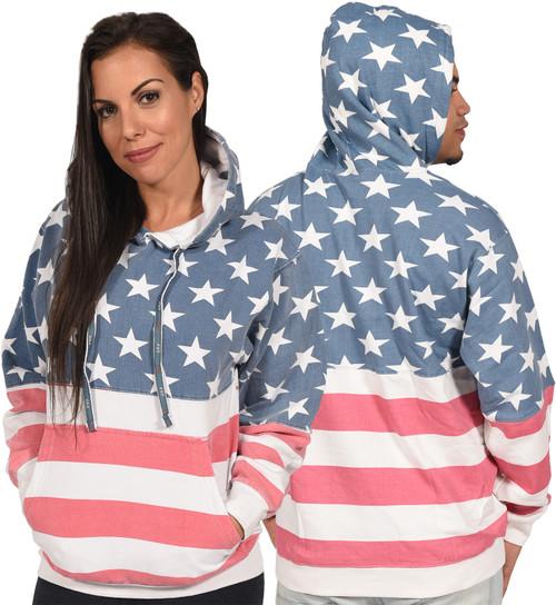 "USA ""Vintage-Print"" Unisex Pullover Hoodie."