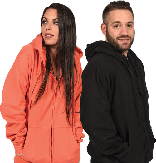 Fleece Full-Zipper Hoodie Unisex (Plain)