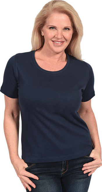 Short-Sleeve Scoop-Neck Top