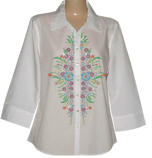 SH4001 White, embellished with S5859