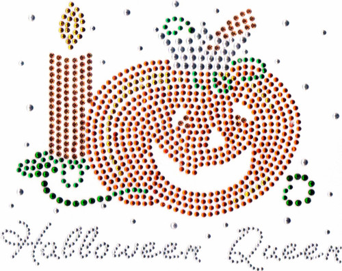 Halloween Queen Iron-On Design (S4640) shown.
