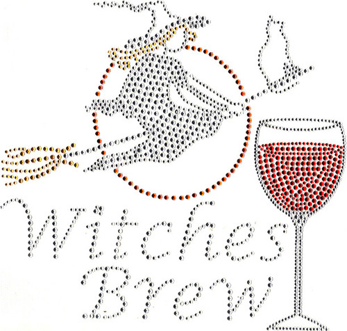 """WITCHES BREW"" Iron-On Design (S100415) shown."