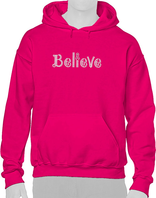 """Believe"" design on 4005 Fuchsia."