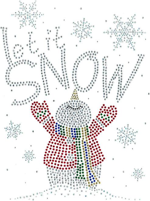 """""""Let It Snow"""" Snowman."""