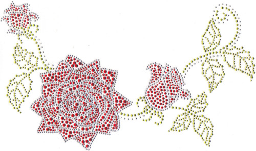 Red Roses Scoop-Neckline.