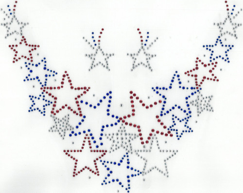 Star Spangled Scoop-Neckline & Accents Iron-On Design (S102314) shown.